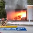 Na manhã desse sábado, um apartamento explodiu e pegou fogo em Curitiba, compondo um cenário de guerra.